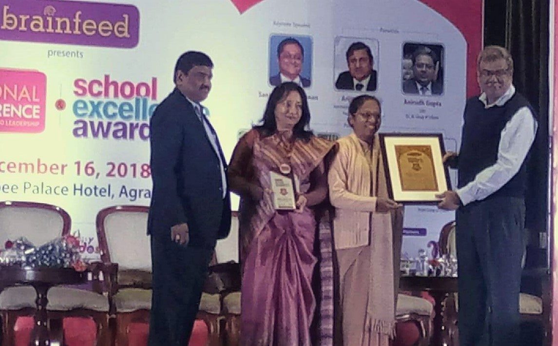 Top 500 schools of India and Best State Board School in field of Sports, Academics and Techno Smart school of the year by BrainFeed School Excellence Award ceremony.